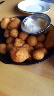 Hushpuppies with maple butter! Oh my Goodness!! SOOO GOOD!